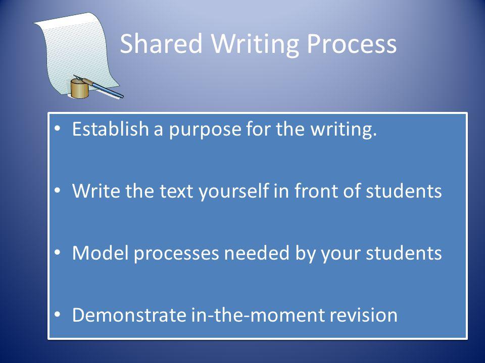 Shared Writing Process