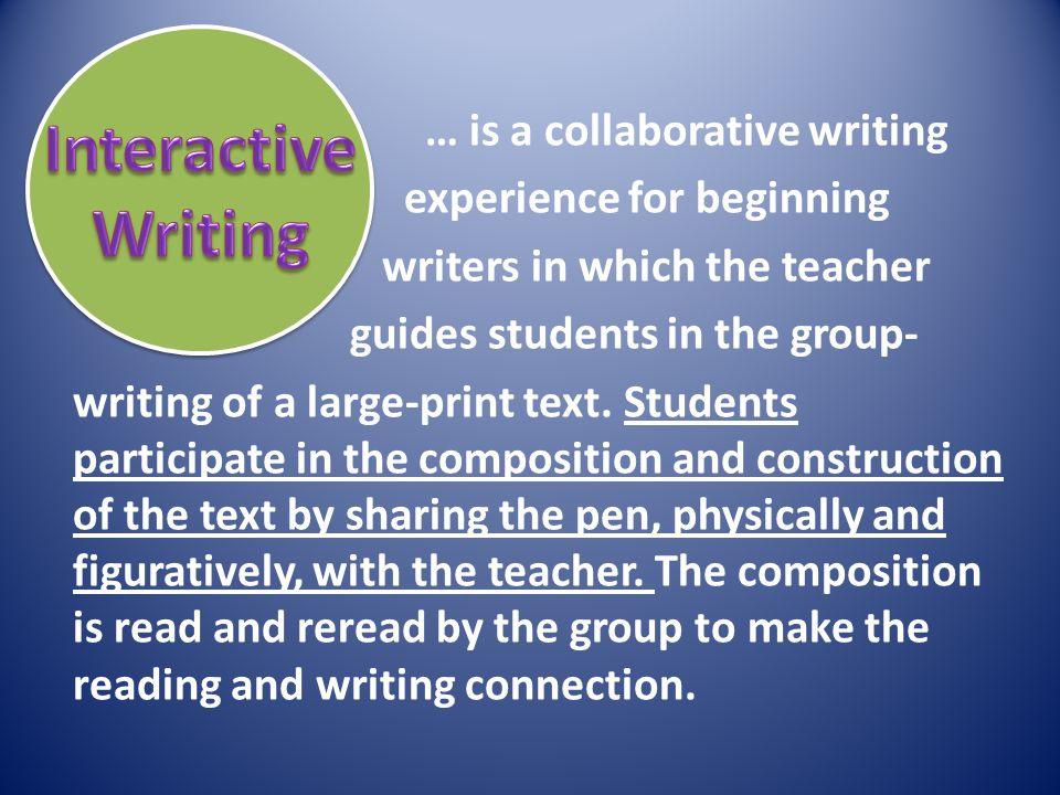 Interactive Writing.