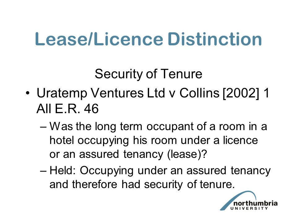 Lease/Licence Distinction