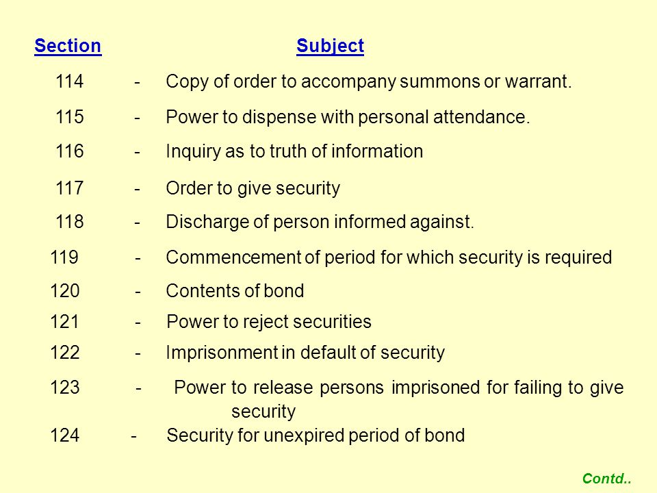 114 - Copy of order to accompany summons or warrant.