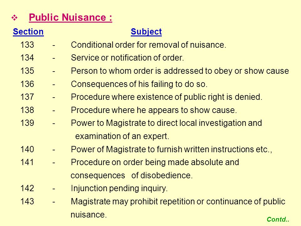 133 - Conditional order for removal of nuisance.