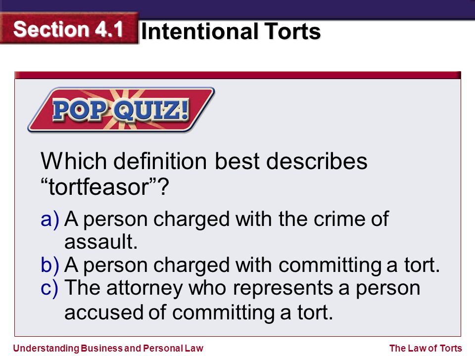 Which definition best describes tortfeasor