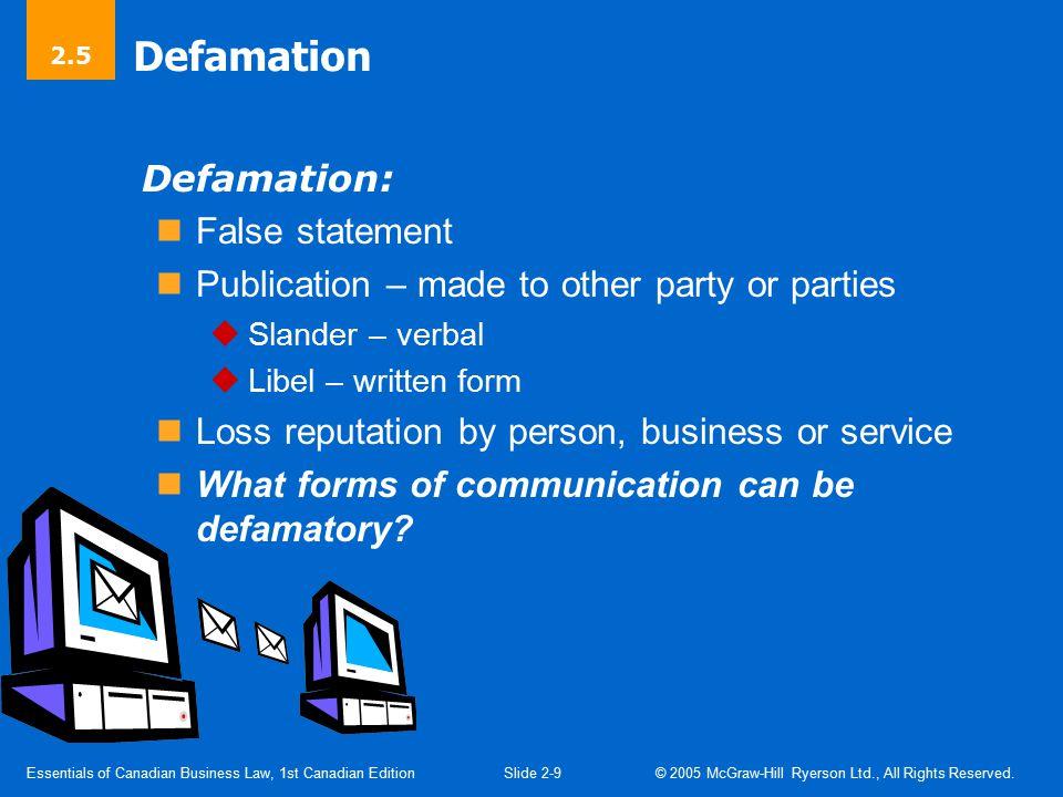 Figure 2-1 Defamation.
