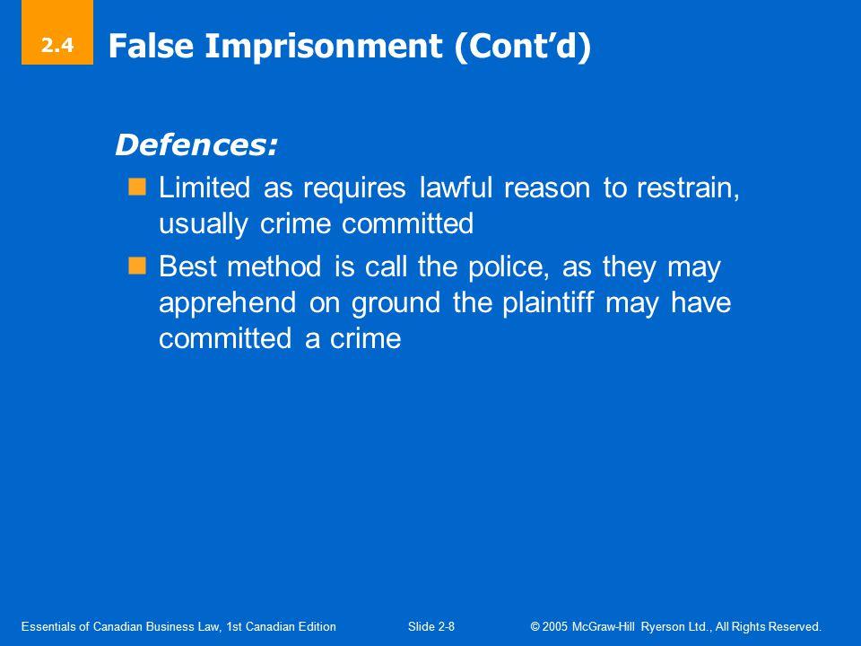 Defamation Defamation: False statement