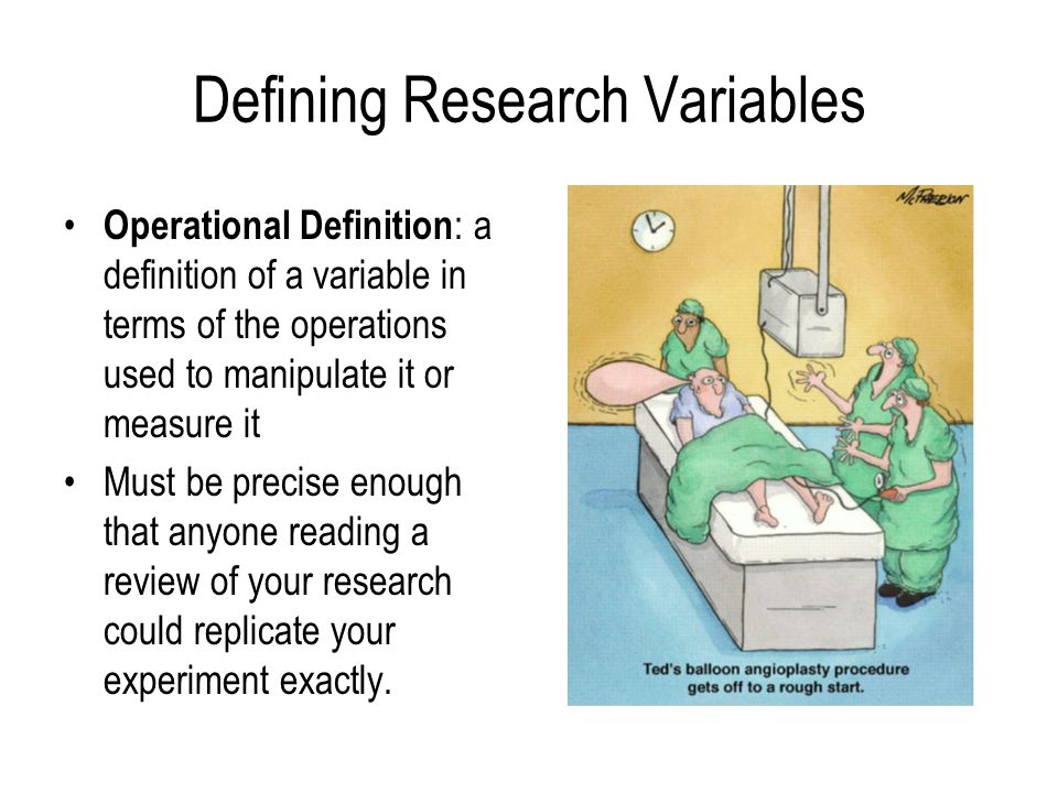 Defining Research Variables