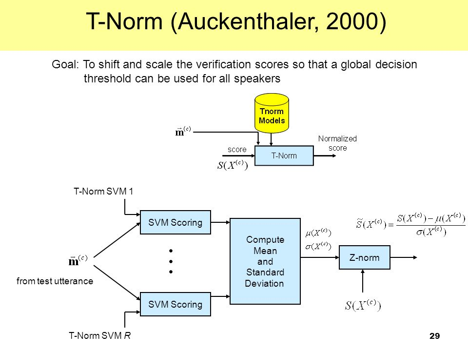 T-Norm (Auckenthaler, 2000)