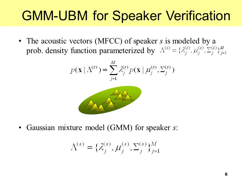 GMM-UBM for Speaker Verification