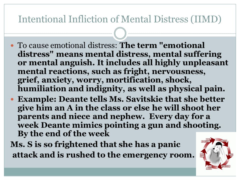 Intentional Infliction of Mental Distress (IIMD)