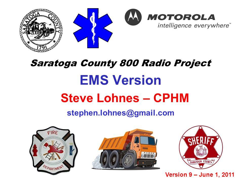 Saratoga County 800 Radio Project