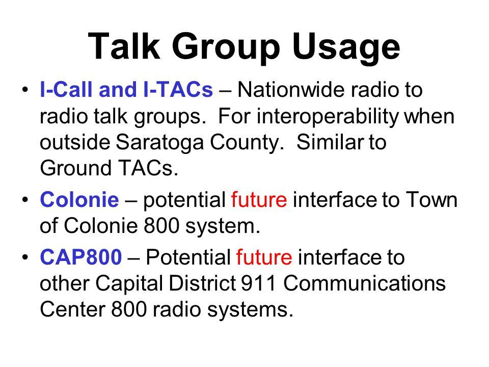 Talk Group Usage