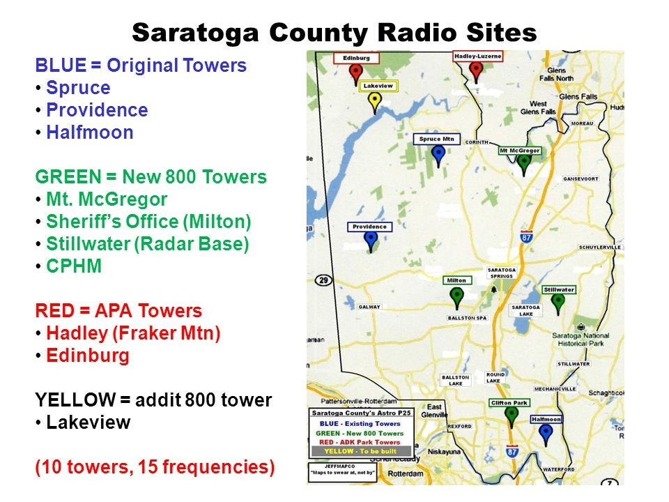 Saratoga County Radio Sites