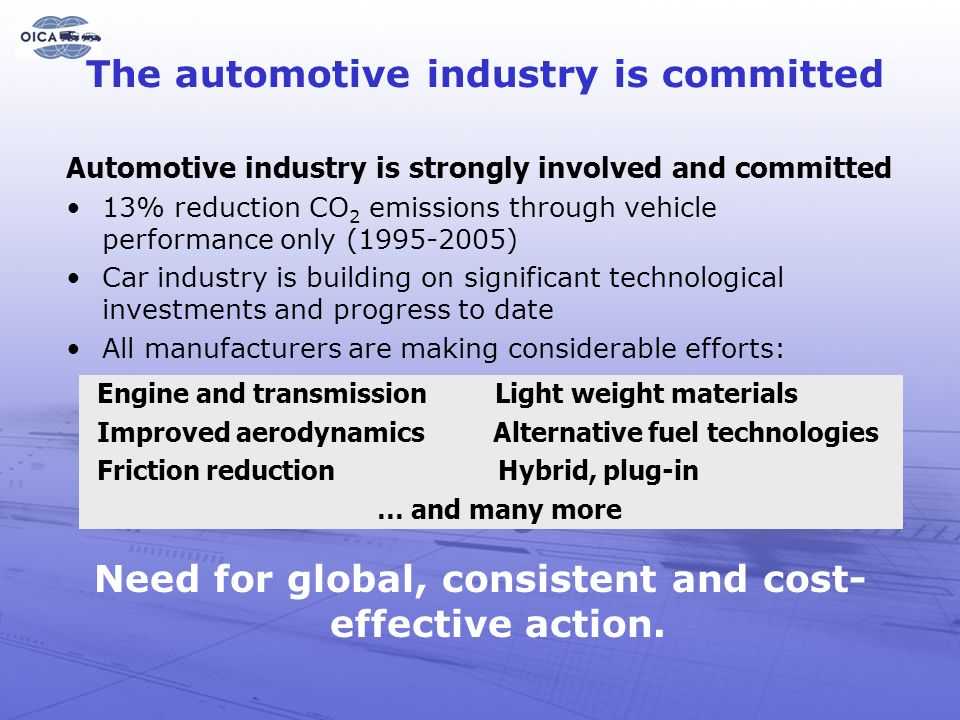 The automotive industry is committed
