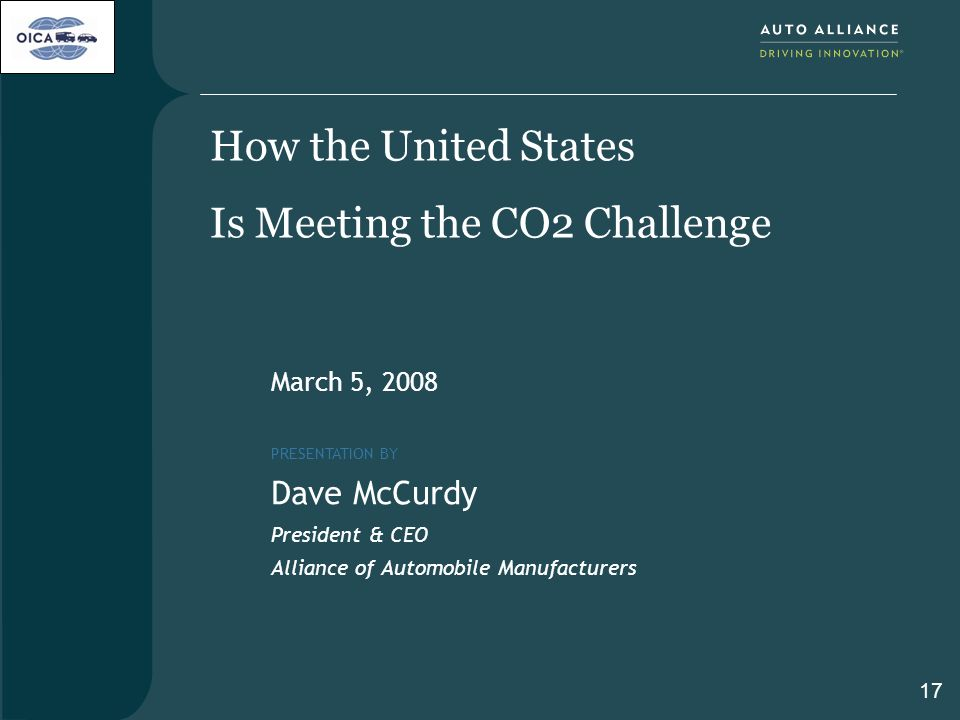 How the United States Is Meeting the CO2 Challenge