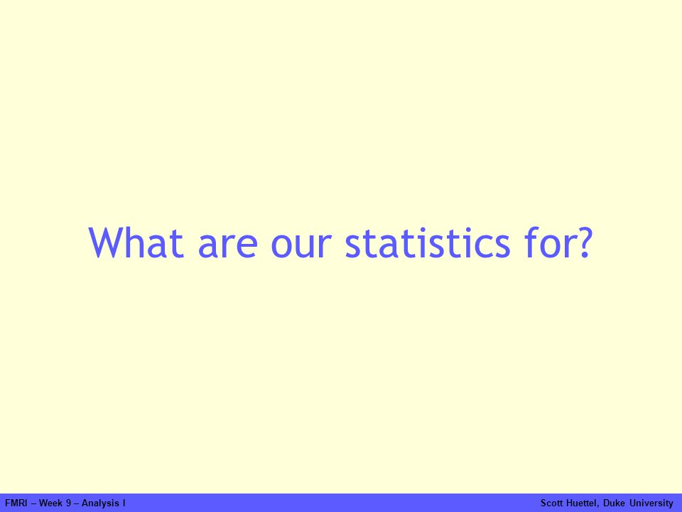 What are our statistics for
