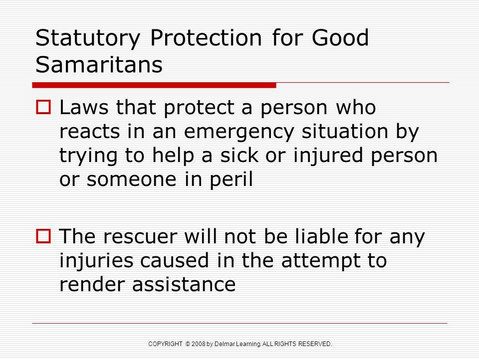 Statutory Protection for Good Samaritans