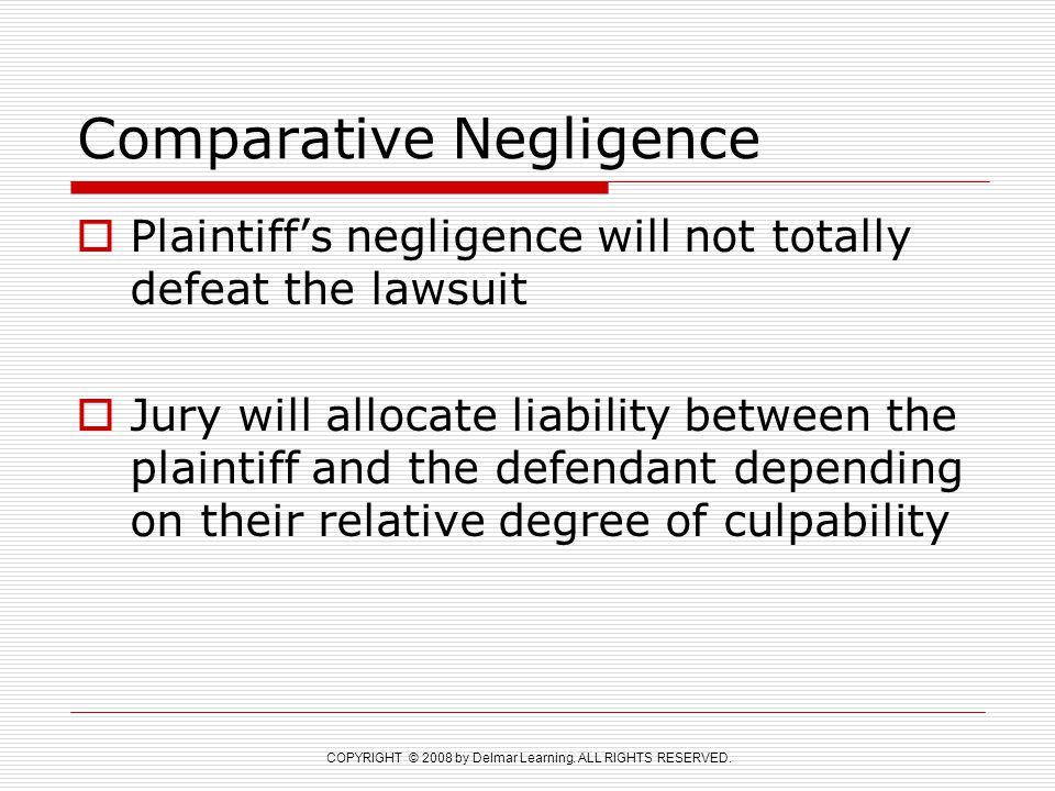 Comparative Negligence