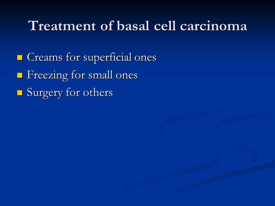 Treatment of basal cell carcinoma