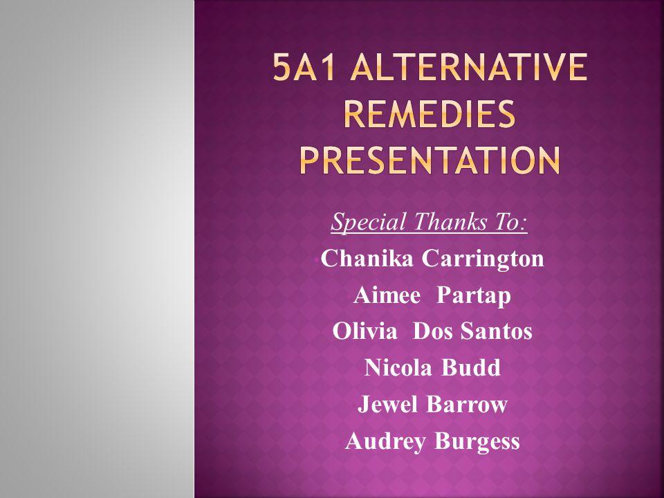5a1 Alternative Remedies Presentation