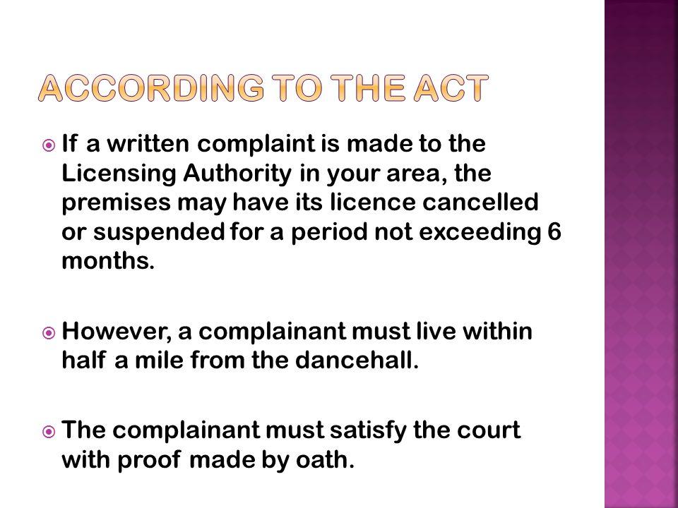 According to the Act