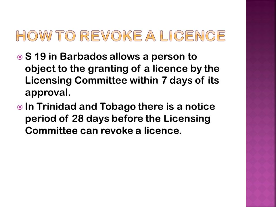 How to revoke a licence