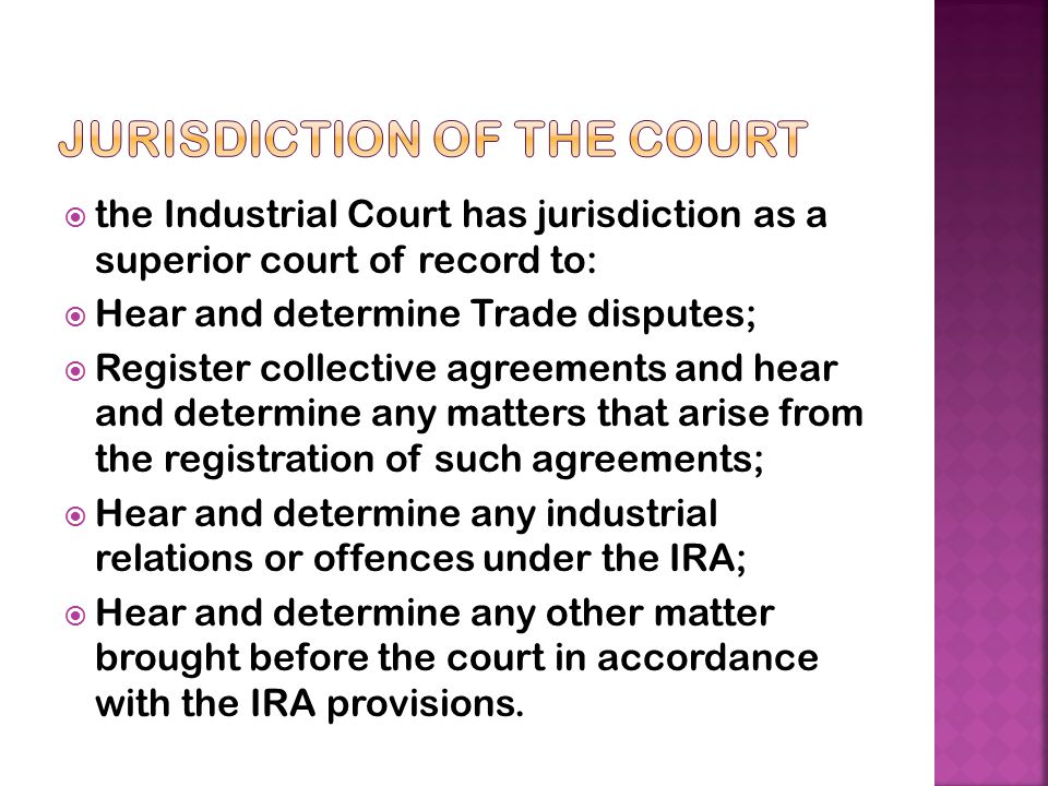 Jurisdiction of the Court