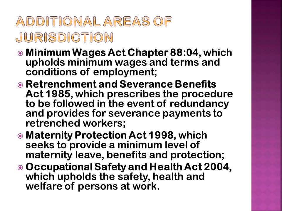 Additional areas of Jurisdiction
