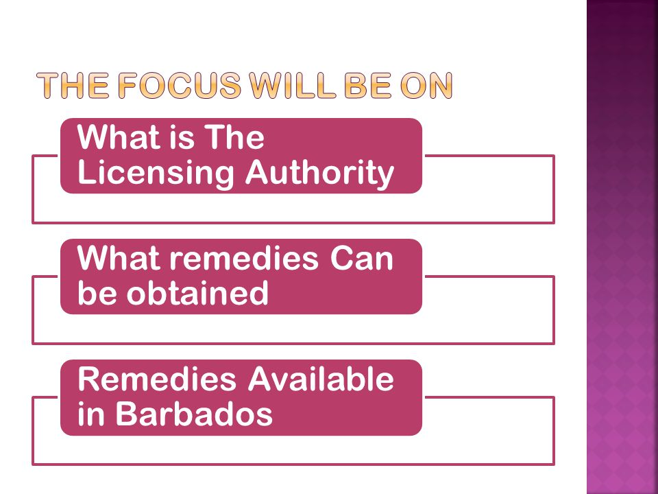 The focus will be on What is The Licensing Authority