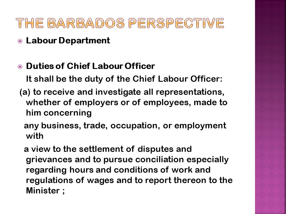 The Barbados Perspective