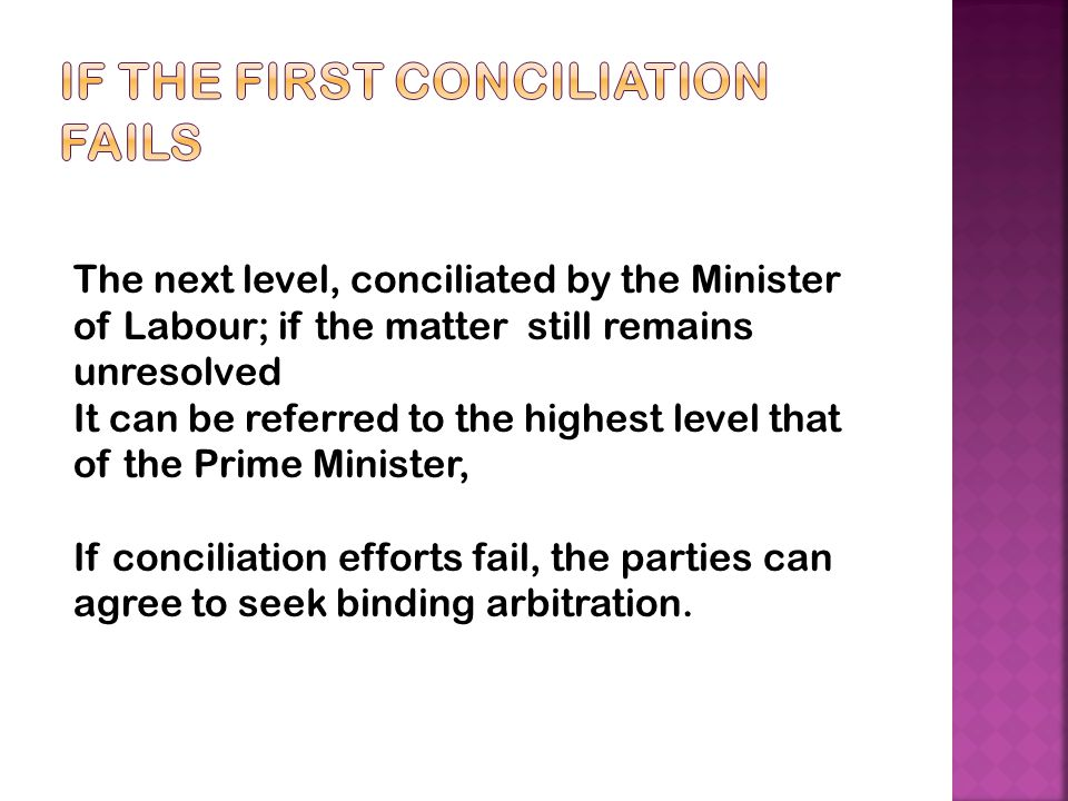 If the first Conciliation Fails