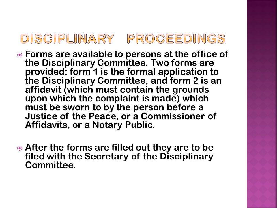 Disciplinary Proceedings