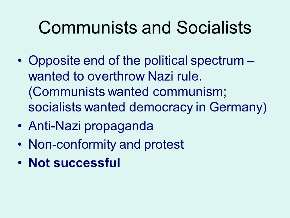 Communists and Socialists