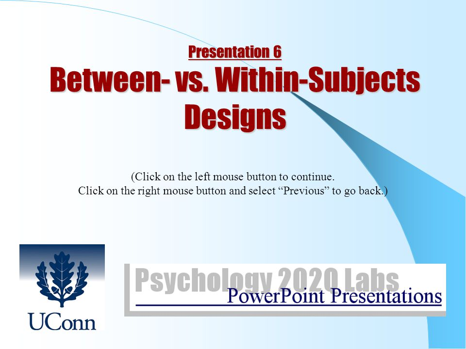 between vs in subjects designs ppt   in subjects designs