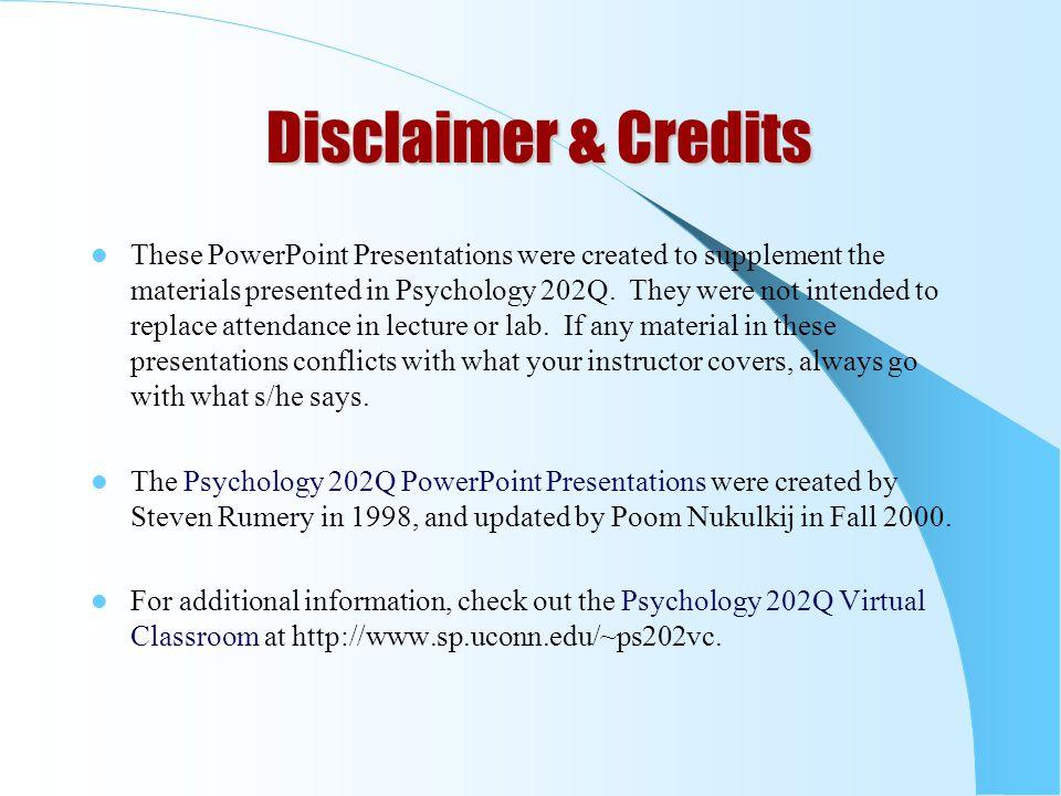 Disclaimer & Credits