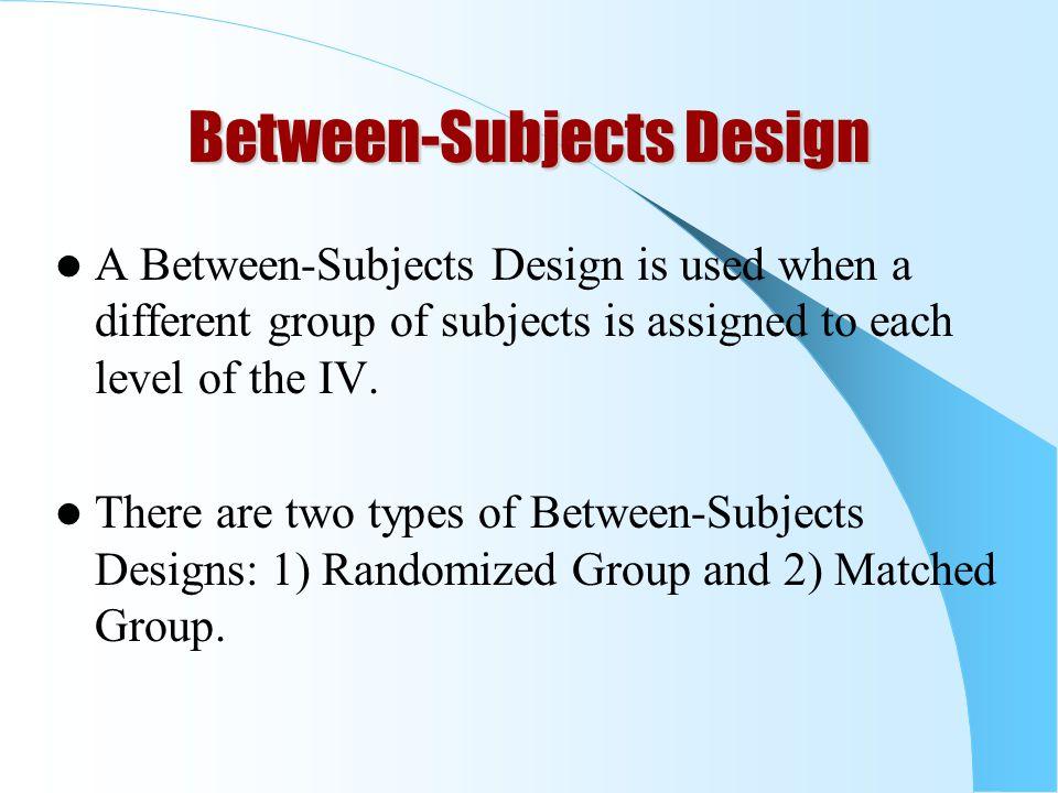 Between-Subjects Design