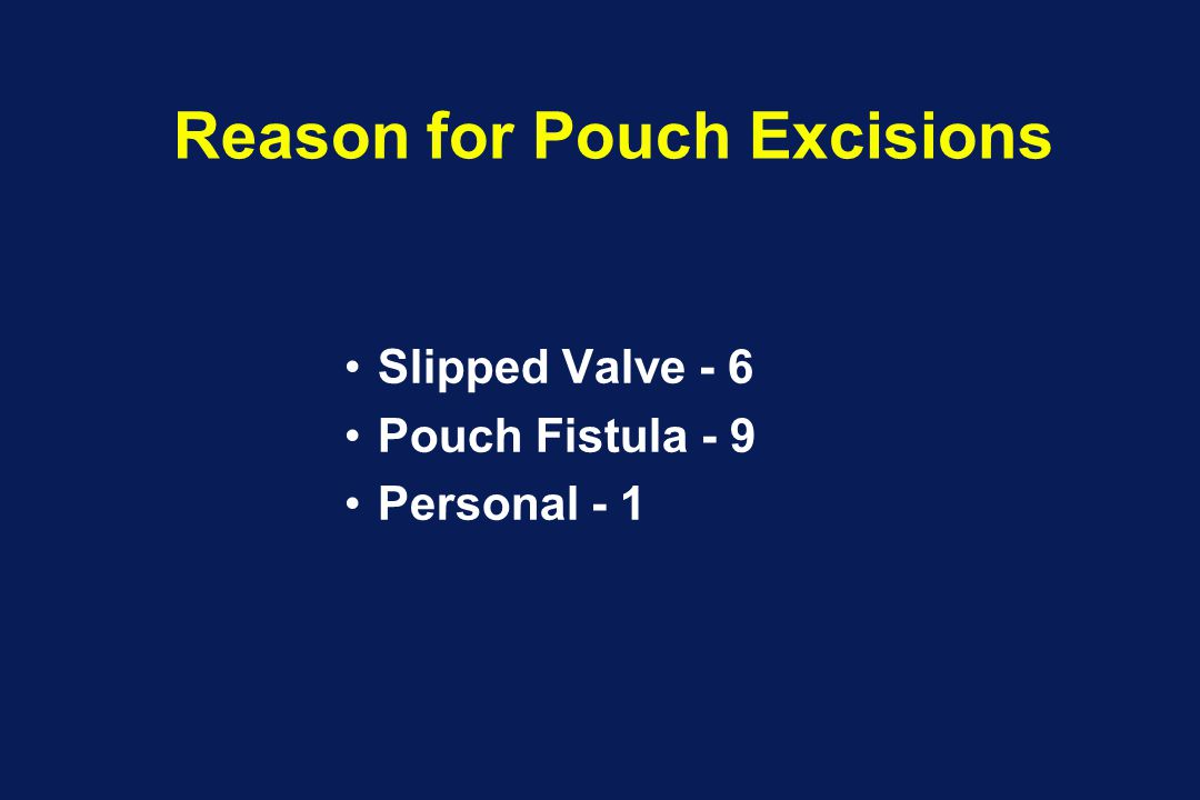 Reason for Pouch Excisions