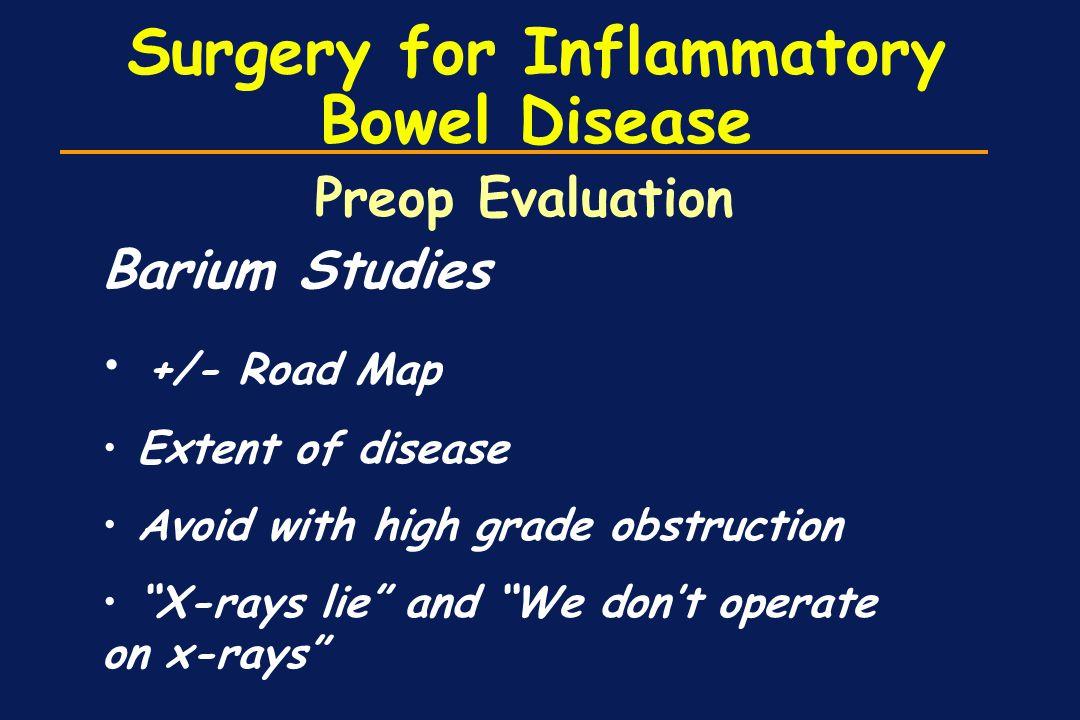 Surgery for Inflammatory Bowel Disease
