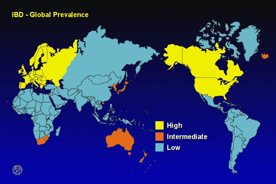 GEOGRAPHICAL PREVALENCE OF IBD
