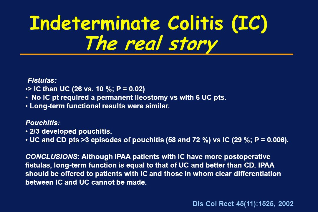 Indeterminate Colitis (IC) The real story