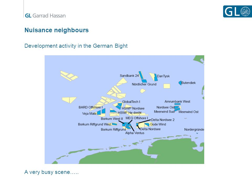 Nuisance neighbours Development activity in the German Bight