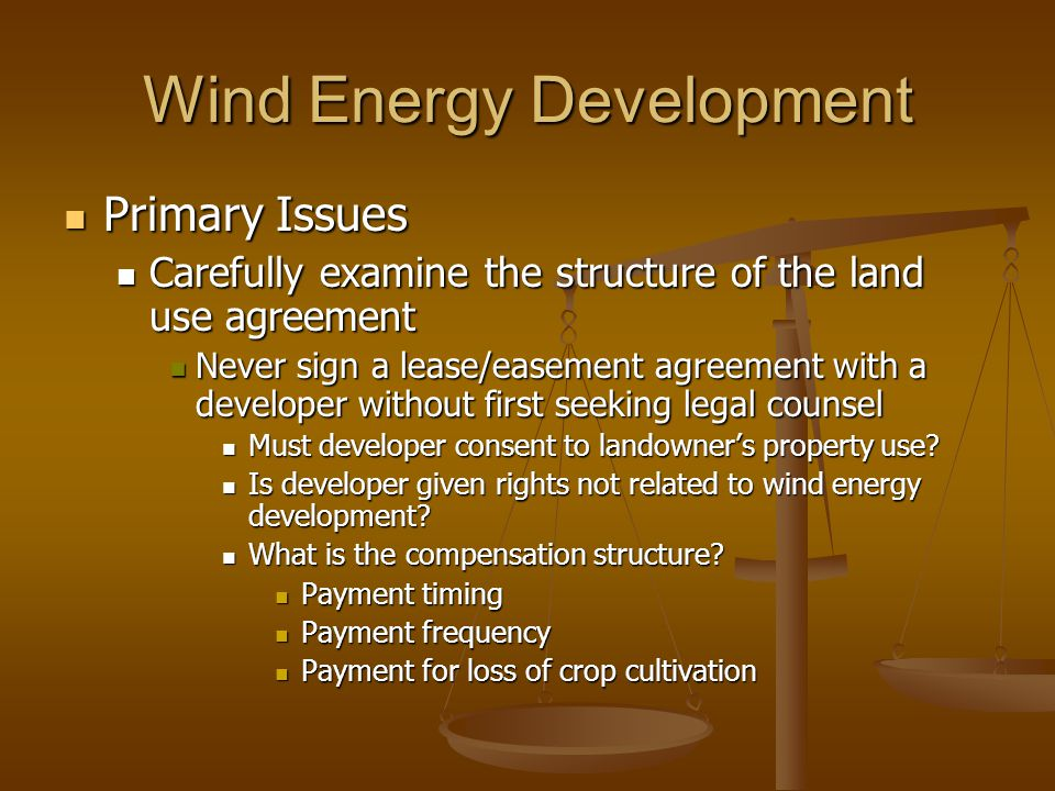 Wind Energy Development