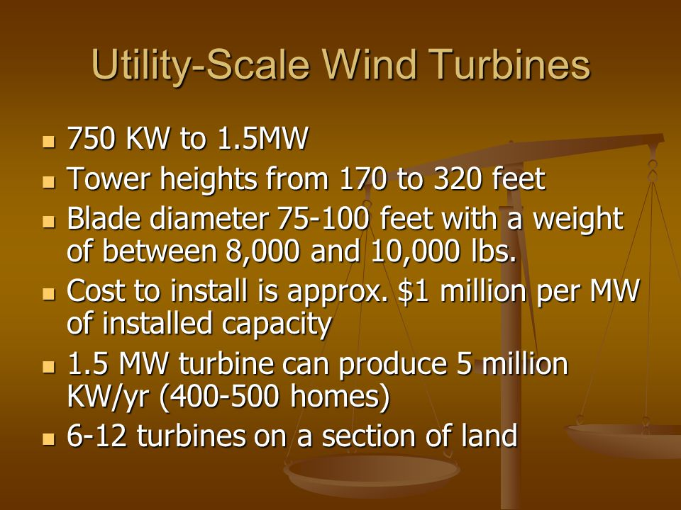 Utility-Scale Wind Turbines