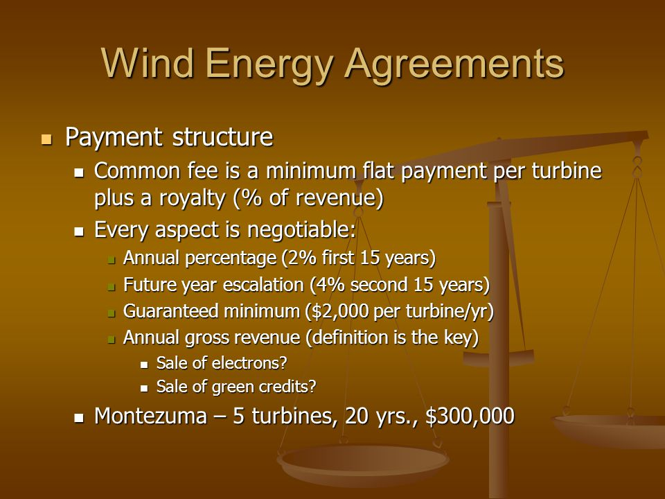 Wind Energy Agreements