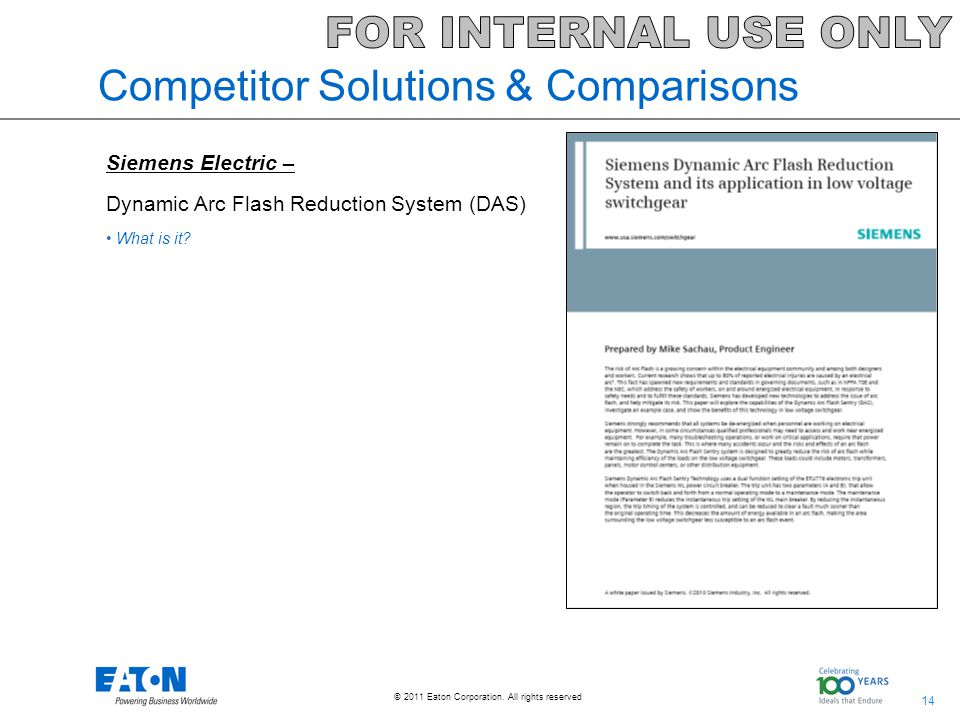 Competitor Solutions & Comparisons