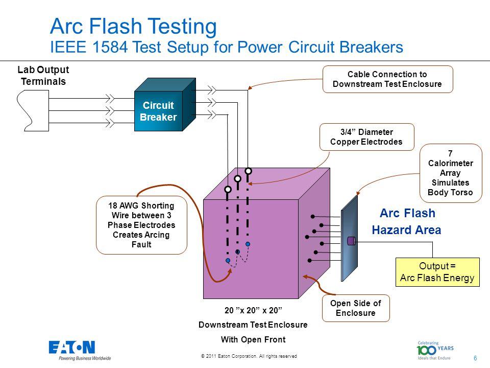 Arc Flash Testing IEEE 1584 Test Setup for Power Circuit Breakers