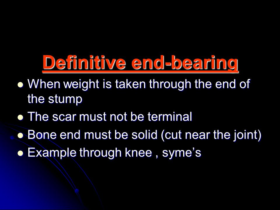 Definitive end-bearing