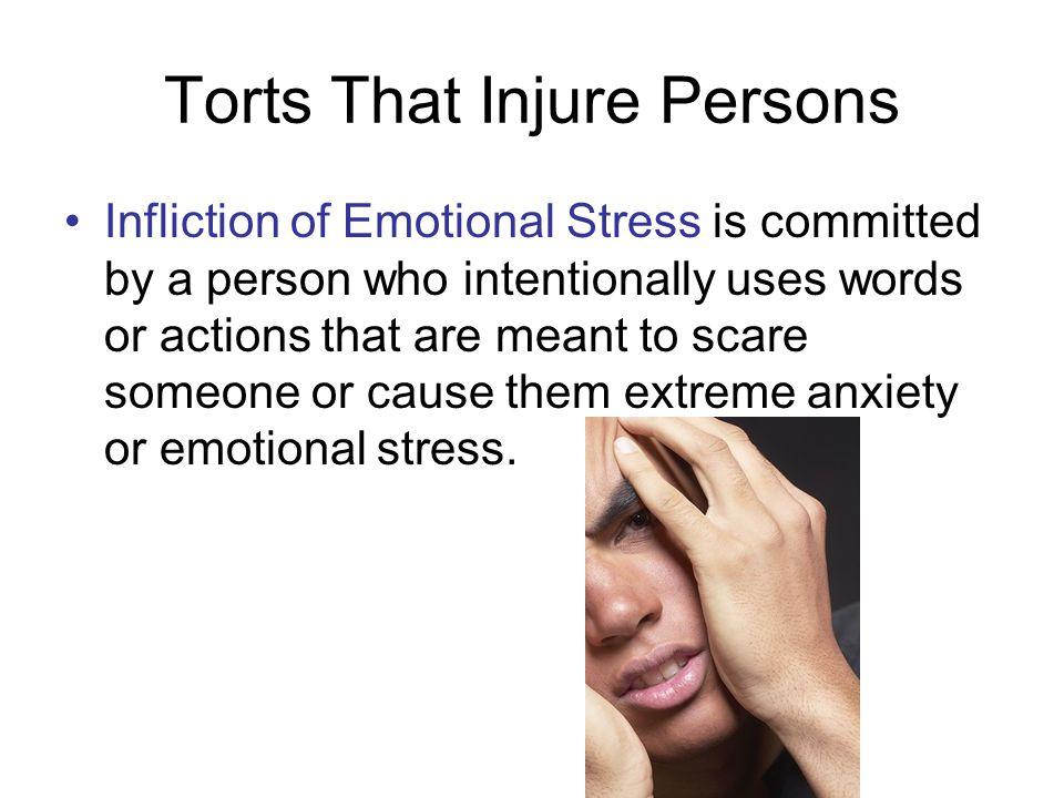 Torts That Injure Persons