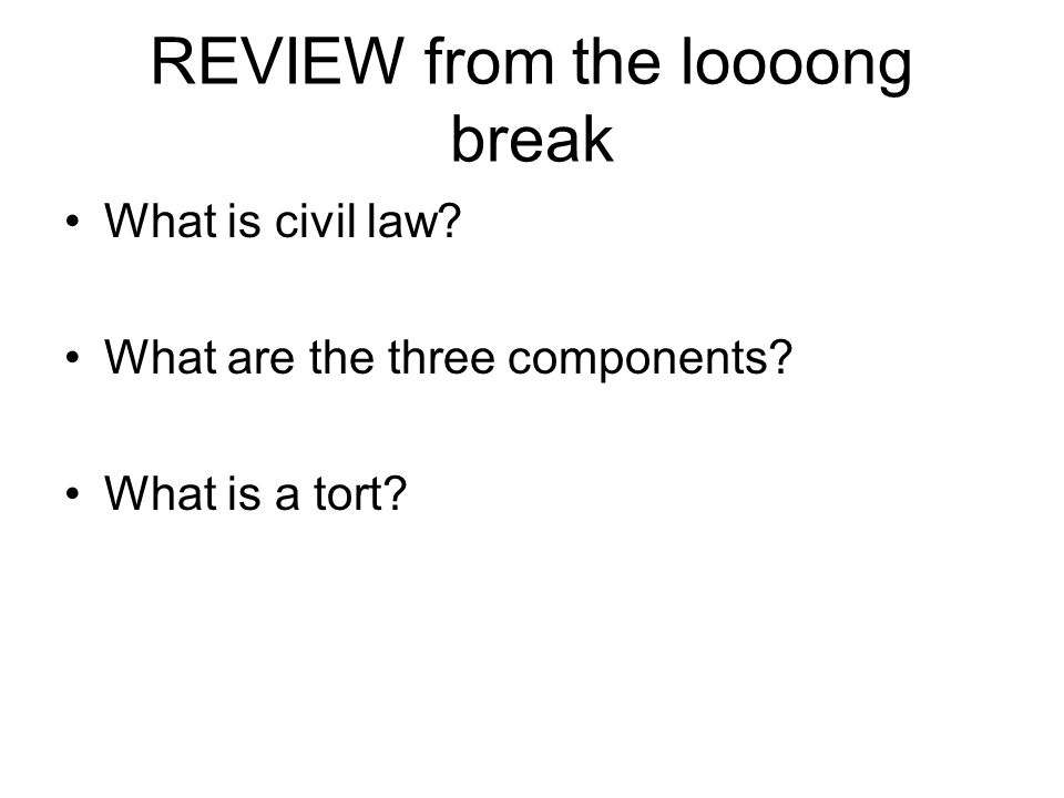 REVIEW from the loooong break