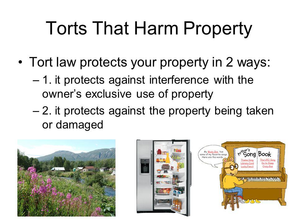Torts That Harm Property