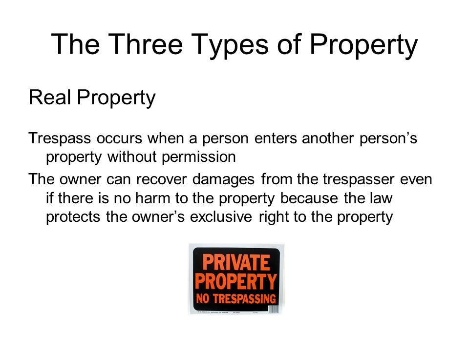 The Three Types of Property