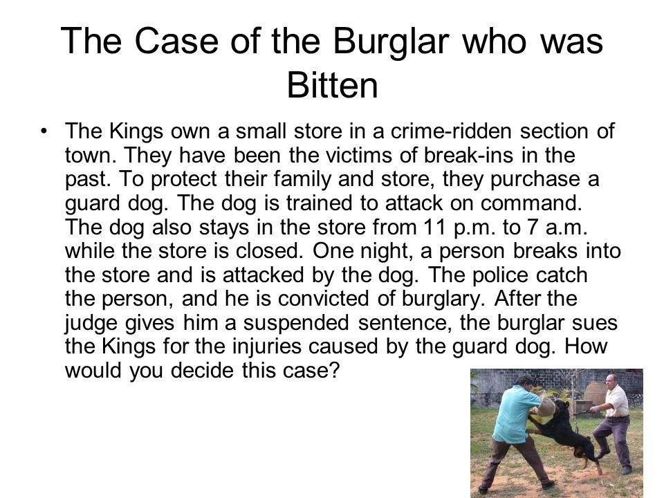 The Case of the Burglar who was Bitten